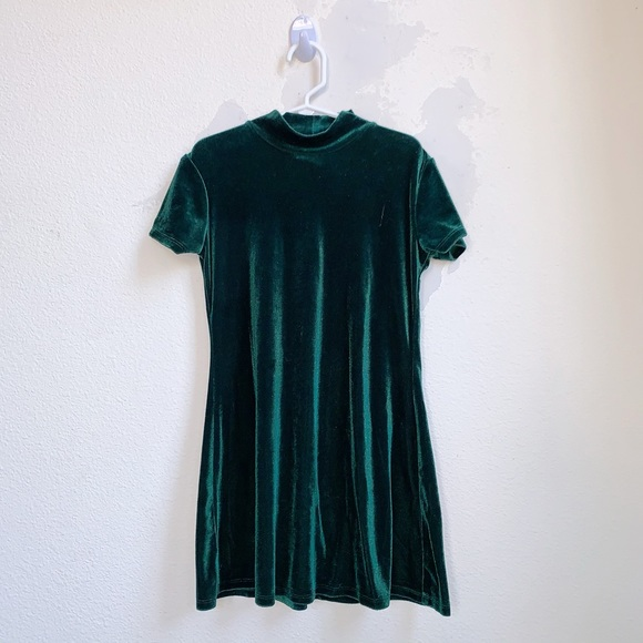 My Michelle Other - My Michelle | Velvet Green Holiday Dress